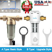 1-3set Whole House Sediment Water Filter Spin Down Home Filtration System Update
