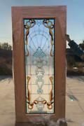Hand Made Leaded Stained Glass Mahogany Entry Door - Jhl2167-44