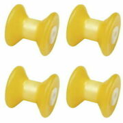 4 Pack 3 Inch Width Boat Trailer Non Marking Molded Rubber Bow Stop Rollers