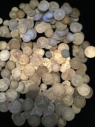 100 Barber Dimes 100 Barber Quarters 100 Barber Halves Average Circulated