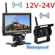 Wireless Reversing Backup Rear View Camera System+7tft Lcd Hd Monitor For Truck