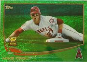 2013 Topps Mike Trout Green Refractor Topps All Star Rookie Cup Card 27 Mint+