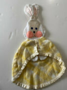 Vintage Fp Fisher Price 1979 Yellow Plaid Bunny Security Blanket 441 442 443