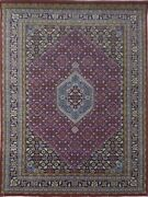 Antique Rug Hand Knotted Red-blue Wool Area Rug -b9