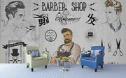 3d Barber Shop Pattern Wallpaper Wall Mural Removable Self-adhesive Sticker 320
