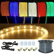 300ft Led Rope Light In/outdoor Cuttable Flexible Lights Strip Xmas Decorative