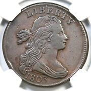 1803 S-259 R-4 Ngc Vf 30 Sm Date Lg Frac Draped Bust Large Cent Coin 1c