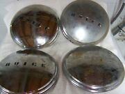 Vintage Buick Dogdish Hubcaps- 1940and039s 10 Inch. Set Of 4