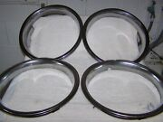 Vintage Hubcap Beauty Rings. Set Of 4. Ford Chevy