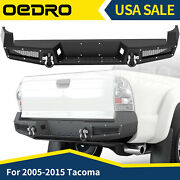 Oedro Textured Rear Bumper For 2005-2015 Toyota Tacoma W/ License Plate Hole
