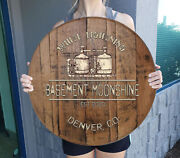 Personalized Prohibition Decor Bar Sign For Moonshine Gift Man Cave Wall Art
