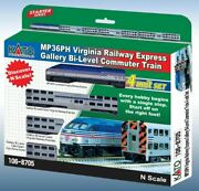 N Vre Mp36ph And3 Bi-level Commuter Train W/dcc -- New In Stock