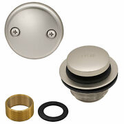 Toe Touch Tub Drain Replacement Bathtub Overflow Cover Kit In Satin Nickel