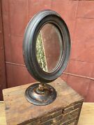1800s Antique Victorian Oval Walnut Adjustable Mirror Table Clothing Shop