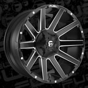 20x9 D616 Fuel Contra Black Rims 32 At Tires Package 5x150 Toyota Tundra W/tpms