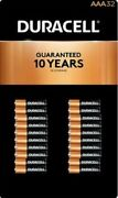 32 Count Duracell Aaa Alkaline Batteries Mn24tb32 1.5 V Coppertop