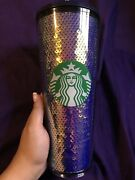 New Starbucks Sequins Holiday 2020 Cold Cup Tumbler Sold Out Limited Edition