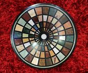 36 Marble Side Coffee Table Top Semi Precious Stones Inlaid Christmas Gifts