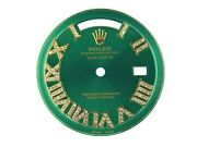 Rolex Custom Green Dial Roman Numeral Diamonds For Day-date 18011803