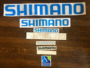 Lot Of Eight 8 Shimano Stickers And Window Decals 27x4 17x3 8.5x1.5...