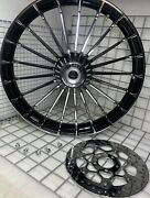 Harley Turbine 2013 -17 Breakout Softail Front Wheel And Rotor Cvo Rim Outright
