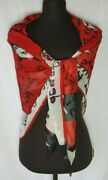 Mary Green Silk Art Scarf Presidential Campaign Dean For America Red Black Eagle