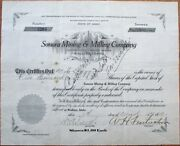 Sonora Mining And Milling Co. 1923 Stock Certificate - Wallace Idaho Id