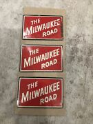 The Milwaukee Road Railroad Post Cereal Tin Sign Train Metal Vtg. 1950andrsquos Lot 3