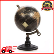 Table Top World Globe Map Vintage Antique Style Office Desk Tabletop Display