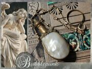 Antique Mop Flask Vinaigrette Chatelaine Chain Ring Estate Jewelry Buy-out