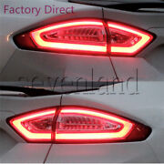 Sl Full Set 3d L.e.d Tail Lights For Mondeo Fusion Clear Red Rear Lamps 2013-up