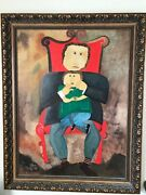 1997 Oil Painting Father And Son By Famous Artist Billy Monsalve Duffo.36x46