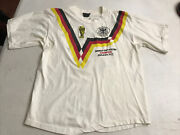 Vtg And Rare Germany 1990 World Cup Champions Italia Andlsquo90 Dblesided Graphics Sz M