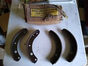 Nos Gm 38-50 Chevy Car Truck Set Of Brake Shoes With Facing 3681129 Bonded Type