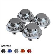 4pcs For Toyota Wheel Center Hub Cap Covers 62mm 2.44and039and039 No Logo Aluminum Gray