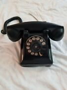 Vintage Northern Electric Rotary Dial Desk Phone 1960s Telephone - Black