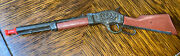 """Vintage 7.5"""" Western Die-cast And Plastic Mini Toy Rifle Rare"""