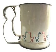 Vintage Flour Sifter Geese Design By Androck Usa