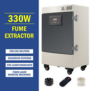 330w Fume Extractor 5 Stage Filter Air Purifier For Laser Cutter Or Cnc Machine