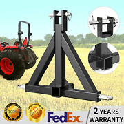 Category 1 Tractor 3 Point Hitch Receiver Tow Drawbar Heavy Duty Tube Steel