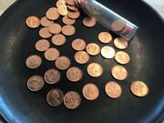 1966 Canadian Penny Lot Of 50