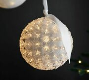 Pottery Barn Light Up Hanging Orbs Large Diameter 8.5 Inches New In Box