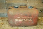 Vintage Johnson Outboard 6-gallon Boat Fuel Gas Tank Can Steel