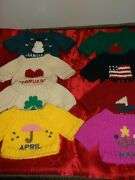 Wow Rare American Girl 12 Month Sweaterand039s For 18 Dolls Clothes