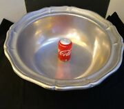 Huge Wilton Armetale Pewter Punch Bowl Or Extremely Large Serving Bowl 20 Inches