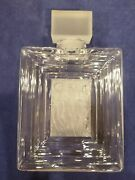 Lalique Crystal Duncan 3 Clear And Frosted Flacon Large Perfume Bottle Decanter
