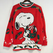 Peanuts Snoopy And Friends Mistletoe Christmas Sweater Mens Large