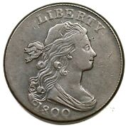 1800 S-203 R-3 Draped Bust Large Cent Coin 1c