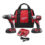18 Volt Lithiumion Cordless Drill Driver Impact Driver Combo Kit Compact Design