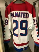 New Mike Palmateer Mitchell And Ness Washington Capitals Official Hockey Jersey